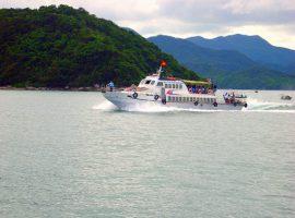 tàu ra đảo Cô Tô con
