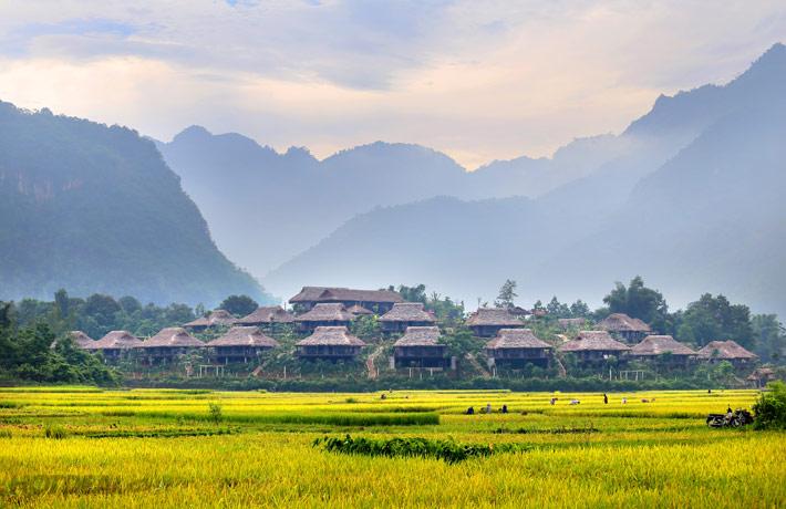 Bản Lác Mai Châu có nhiều địa điểm du lịch đẹp
