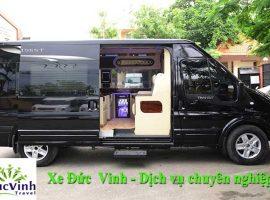 Xe Limousine ghép chung đi Hòa Bình của dịch vụ vận tải Đức Vinh
