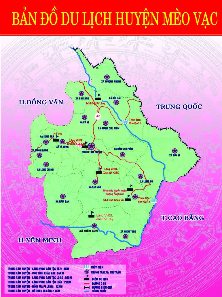Bản đồ Mèo Vạc Hà Giang