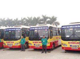 Các tuyến xe buýt tại bến xe khách Bình An Hòa Bình hiện nay