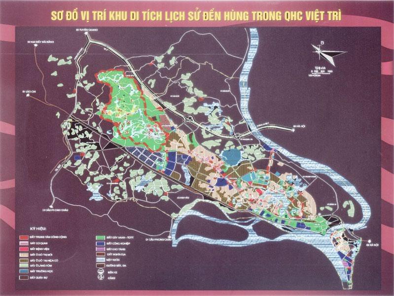 Bản đồ khu du lịch Đền Hùng