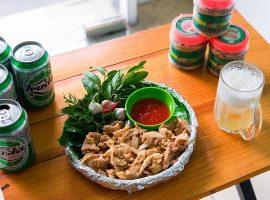 Thịt chua Thanh Sơn là món nhậu lý tưởng khi uống bia, rượu