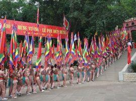 Lễ hội Đền Hùng được tổ chức vào ngày mùng 10 tháng 3 hàng năm