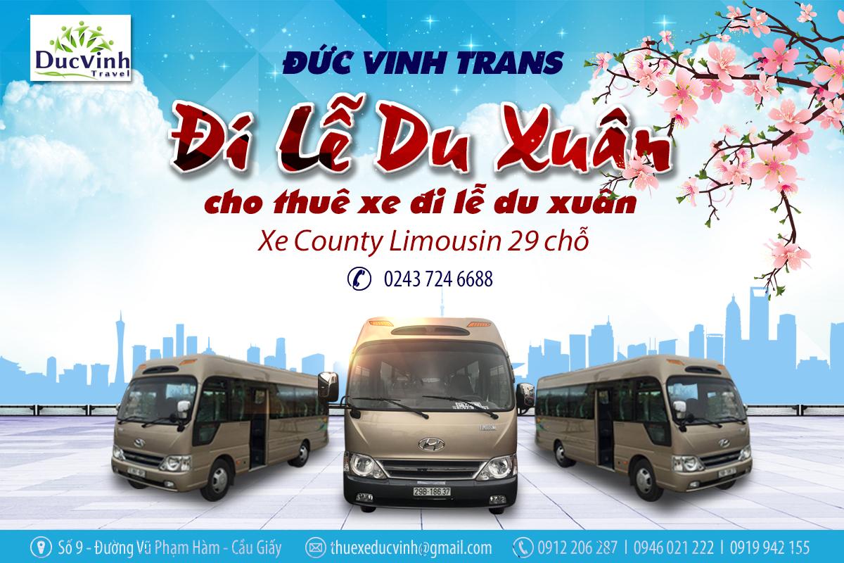 Dịch vụ cho thuê xe Đức Vinh hân hạnh phục vụ quý khách đi du xuân đầu năm